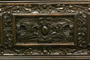 Antique furniture carved texture pattern №43350