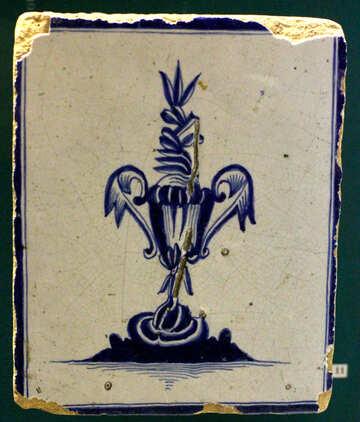 Old ceramic tile. Texture. №43658