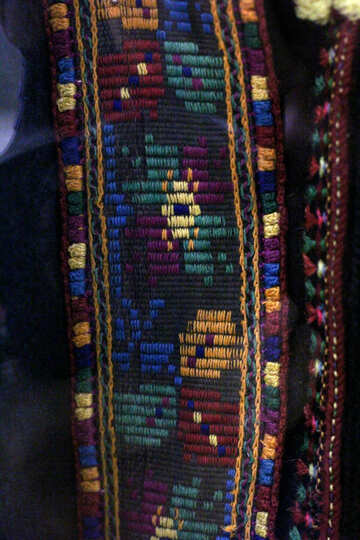 The texture of the ancient weaving of colored threads №44295