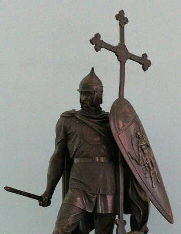 Antique sculpture of a warrior №44103