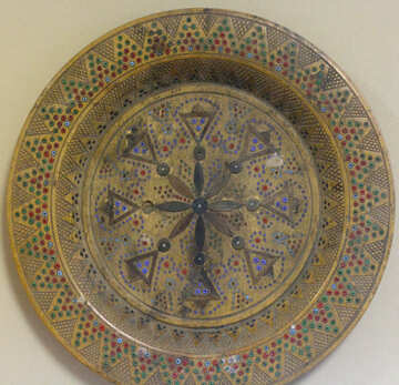 Old decorative plate №44190