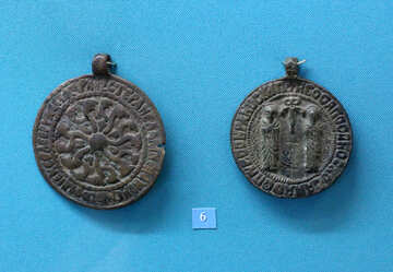 Ancient medallions 8th century