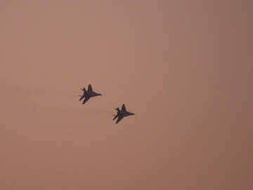 Military aircraft in the sky №44495