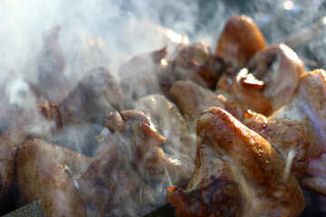 Chicken wings on the grill №44801