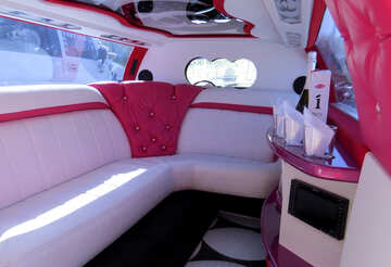 The interior of the passenger compartment of the limousine №44445