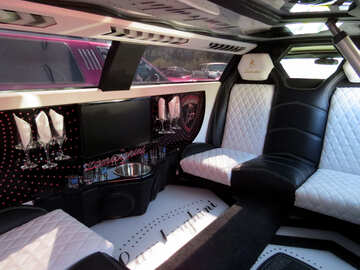 The interior of the passenger compartment of the limousine №44459
