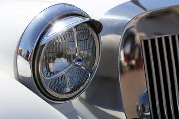 Retro car headlight №44370