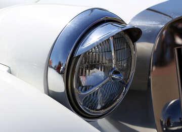 Retro car headlight №44371