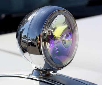 Retro car headlight №44374