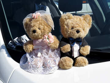 Wedding Bears on the car №44449