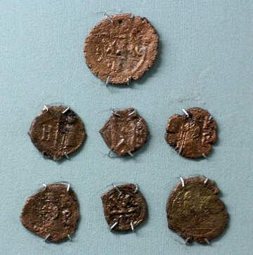 Antique bronze coins №44125