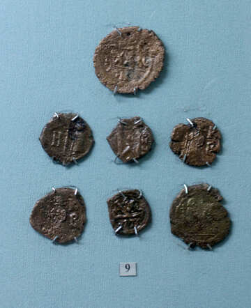 Bronze coins 6th century №44127