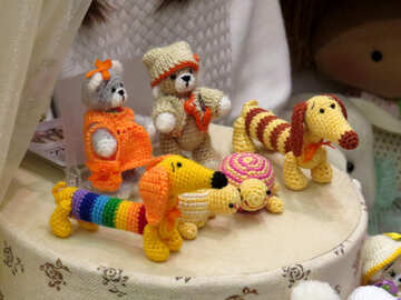 Knitted toy animals №44543