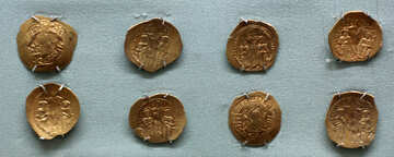 Byzantine gold coins 8th century AD