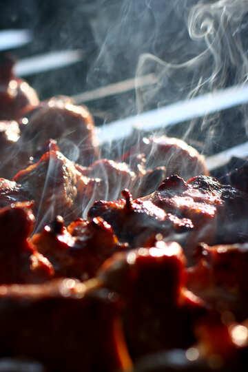 Beautiful photo kebab meat on skewers №44742