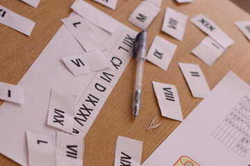 The study of Roman numerals №44329