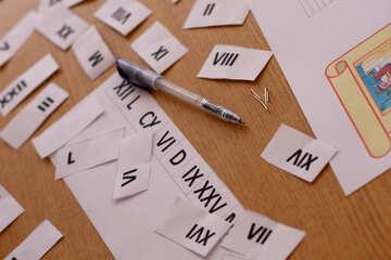 The study of Roman numerals №44330