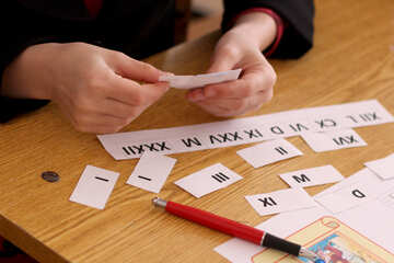 The study of Roman numerals №44335