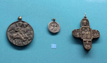 The ancient cross with St. George №44014
