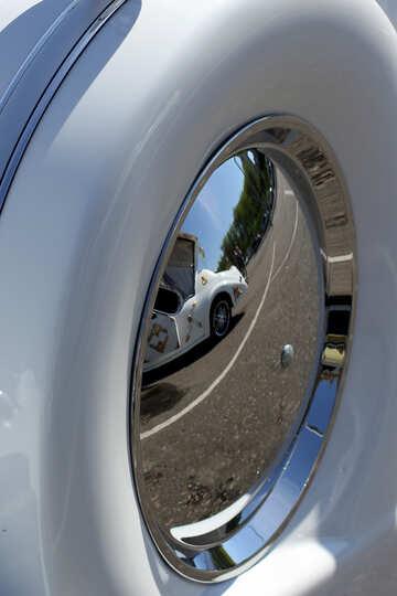 Retro car spare wheel №44434