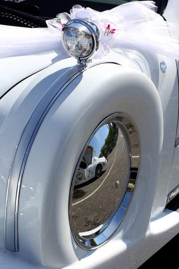 Retro car spare wheel №44435