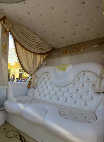 The interior of the passenger compartment of the limousine №44461