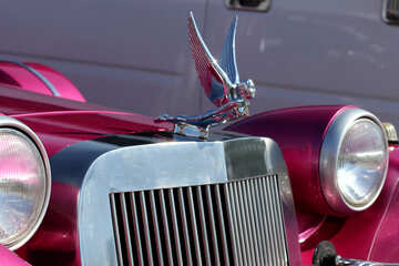 Figurine of the girl on a car with wings №44401