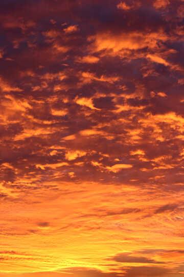 Цветной закат №44620