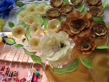 Fabric flowers №44514