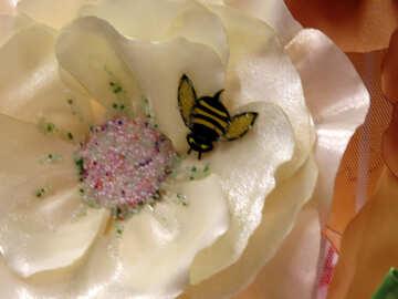 Fabric flowers №44515