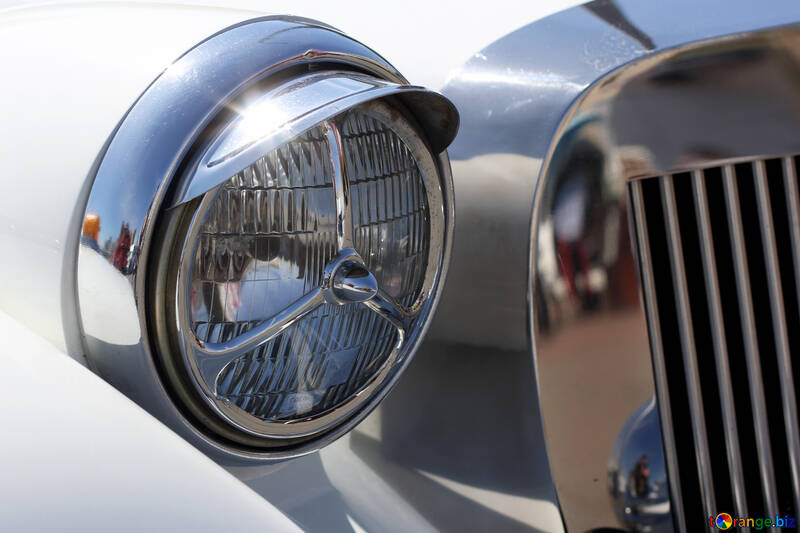 Retro car headlight №44370