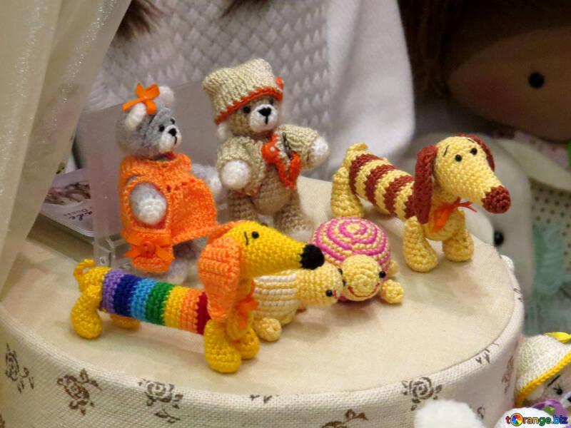 Animaux jouets tricotés №44543