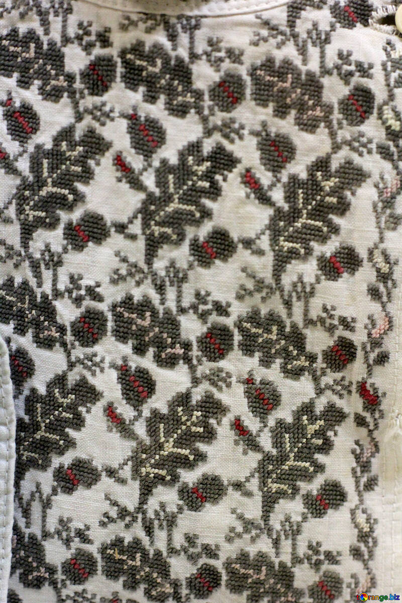 Texture vintage embroidered fabric №44255