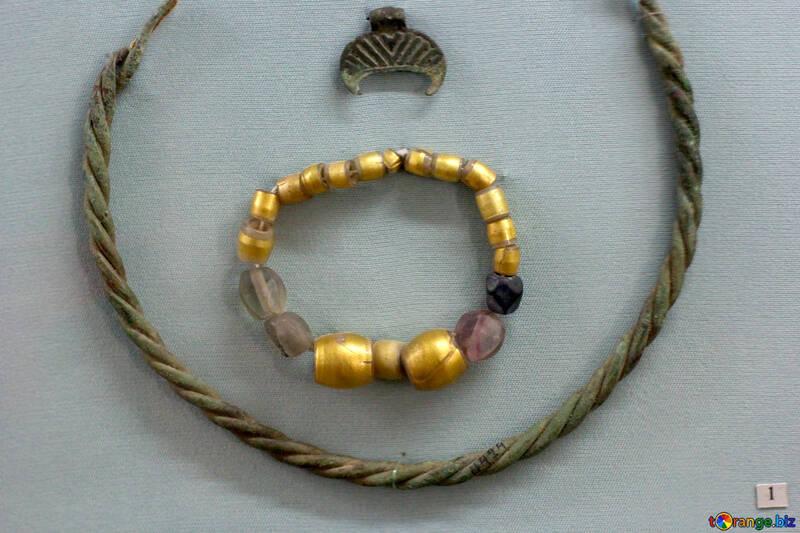 Vintage gold beads 12th century №44138