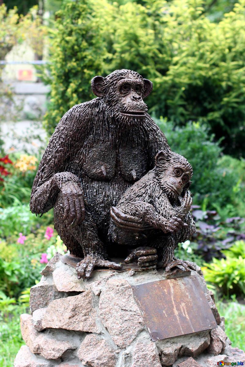 Escultura del mono №44906