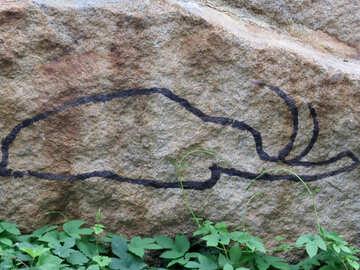 Figure of an elephant on a stone №45061