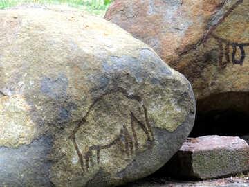 Figure of an elephant on a stone №45062