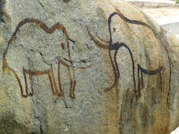 Figure elephants in stone №45064