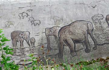 Figure elephants in stone №45065