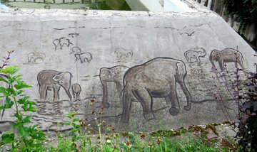 Figure elephants in stone №45066