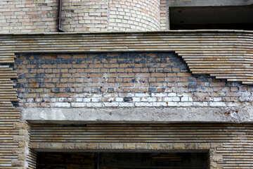 Sandstone fallen away facing stone texture №45819
