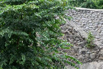 Stone castle wall №45743