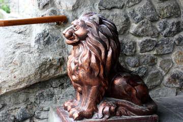 Sculpture Bronze Lion №45589