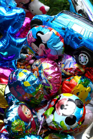 Colored balloons №45878