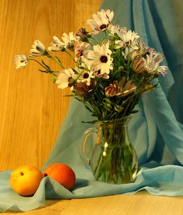 Natura morta con mele e fiori №46857