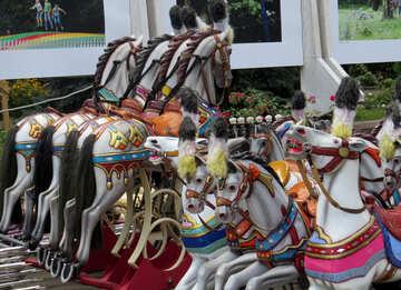 Horses carousel for children №46727