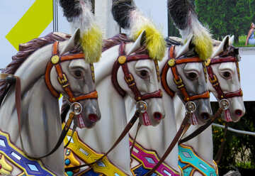 Horses carousel for children №46729