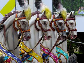 Horses carousel for children №46730