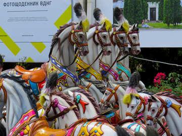 Horses carousel for children №46731
