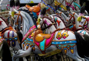 Pferde-Karussell für Kinder №46732
